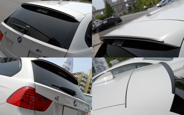 E91 Lci BMW M Performance F11ルーフスポイラー 加工.jpg