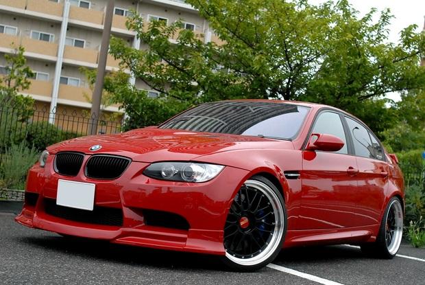 E90 M3 イモラレッド ALLペイント RED Joe (1).JPG