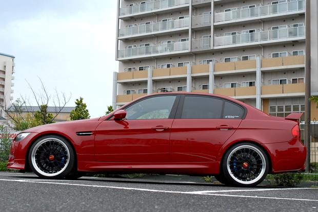 E90 M3 イモラレッド ALLペイント RED Joe (2).JPG