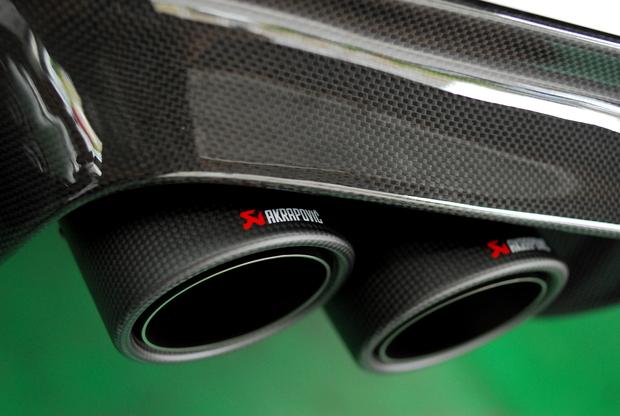 F10 M5 Lci VORSTEINER Carbon Lip diffuser AKRAPOVIC (3).JPG