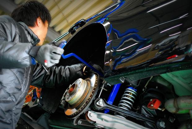 arc E90 CLIMAX 車高調 パイプスタビライザー.JPG