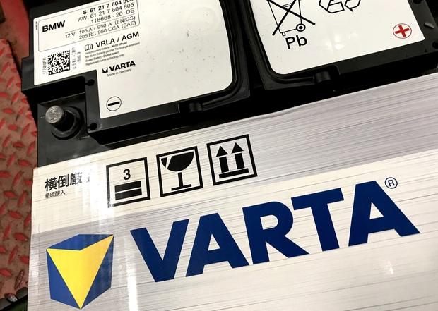 VARTA AGM バッテリー BMW 純正 (4).JPG