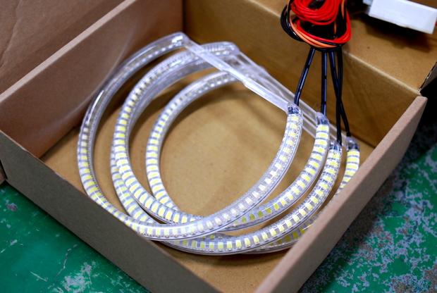 E46 ヘットライトレンズ LED RING  (4).JPG